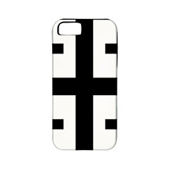 Black Jerusalem Cross  Apple Iphone 5 Classic Hardshell Case (pc+silicone)