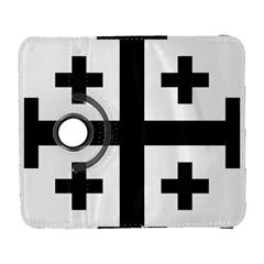 Black Jerusalem Cross  Galaxy S3 (flip/folio) by abbeyz71