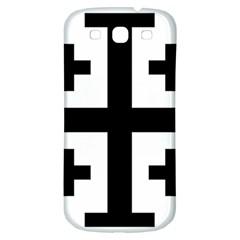 Black Jerusalem Cross  Samsung Galaxy S3 S Iii Classic Hardshell Back Case by abbeyz71