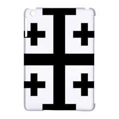 Black Jerusalem Cross  Apple Ipad Mini Hardshell Case (compatible With Smart Cover)