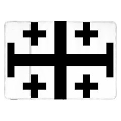 Black Jerusalem Cross  Samsung Galaxy Tab 8 9  P7300 Flip Case