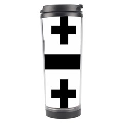 Black Jerusalem Cross  Travel Tumbler by abbeyz71