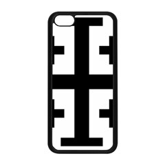Black Jerusalem Cross  Apple Iphone 5c Seamless Case (black) by abbeyz71