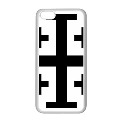 Black Jerusalem Cross  Apple Iphone 5c Seamless Case (white) by abbeyz71
