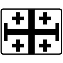 Black Jerusalem Cross  Double Sided Fleece Blanket (large)  by abbeyz71