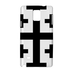 Black Jerusalem Cross  Samsung Galaxy Note 4 Hardshell Case
