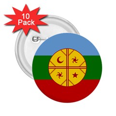 Flag Of The Mapuche People 2 25  Buttons (10 Pack)  by abbeyz71