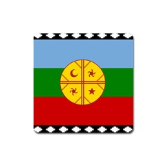 Flag Of The Mapuche People Square Magnet
