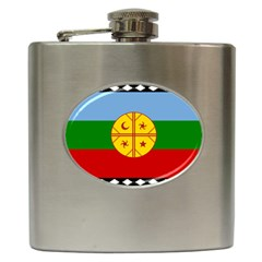 Flag Of The Mapuche People Hip Flask (6 Oz)
