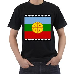 Flag Of The Mapuche People Men s T Shirt (black) (two Sided)