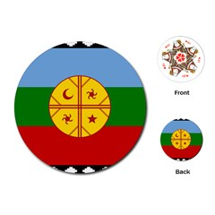 Flag Of The Mapuche People Playing Cards (round)