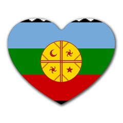 Flag Of The Mapuche People Heart Mousepads by abbeyz71