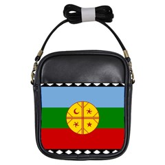 Flag Of The Mapuche People Girls Sling Bags