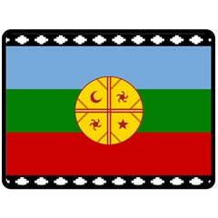Flag Of The Mapuche People Fleece Blanket (large)  by abbeyz71
