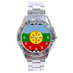 Flag Of The Mapuche People Stainless Steel Analogue Watch