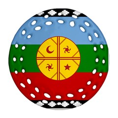 Flag Of The Mapuche People Round Filigree Ornament (two Sides)