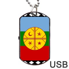 Flag Of The Mapuche People Dog Tag Usb Flash (two Sides) by abbeyz71