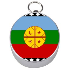 Flag Of The Mapuche People Silver Compasses by abbeyz71