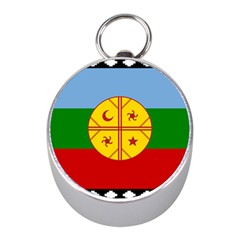 Flag Of The Mapuche People Mini Silver Compasses