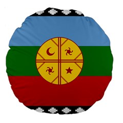 Flag Of The Mapuche People Large 18  Premium Flano Round Cushions by abbeyz71