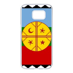Flag Of The Mapuche People Samsung Galaxy S7 Edge White Seamless Case by abbeyz71