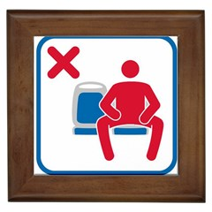 No Manspreading Sign Framed Tiles