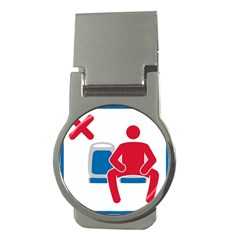 No Manspreading Sign Money Clips (round)