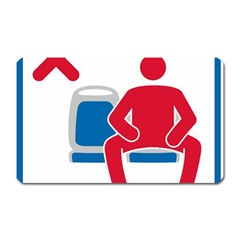 No Manspreading Sign Magnet (rectangular)