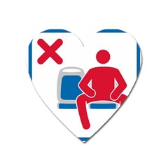 No Manspreading Sign Heart Magnet