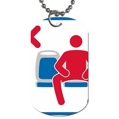 No Manspreading Sign Dog Tag (one Side)