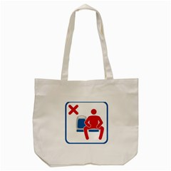No Manspreading Sign Tote Bag (cream)