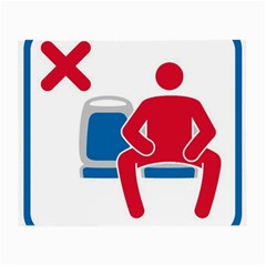 No Manspreading Sign Small Glasses Cloth