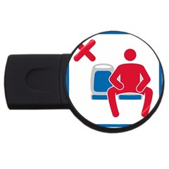 No Manspreading Sign Usb Flash Drive Round (4 Gb)