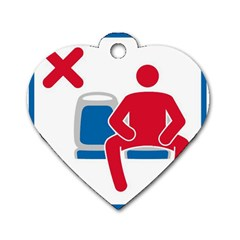 No Manspreading Sign Dog Tag Heart (one Side)