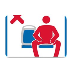 No Manspreading Sign Plate Mats