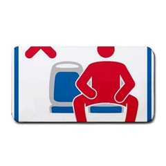 No Manspreading Sign Medium Bar Mats