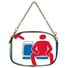 No Manspreading Sign Chain Purses (two Sides)