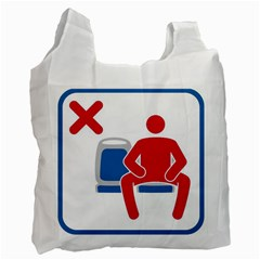No Manspreading Sign Recycle Bag (two Side)