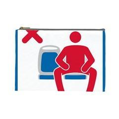 No Manspreading Sign Cosmetic Bag (large)