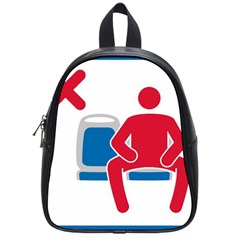 No Manspreading Sign School Bag (small)