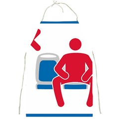 No Manspreading Sign Full Print Aprons