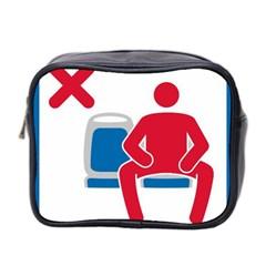 No Manspreading Sign Mini Toiletries Bag 2 Side