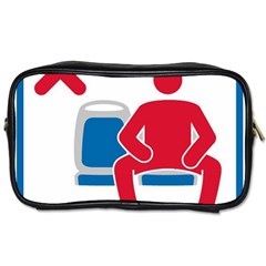 No Manspreading Sign Toiletries Bags 2 Side