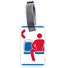 No Manspreading Sign Luggage Tags (two Sides) by abbeyz71
