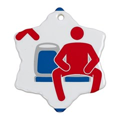 No Manspreading Sign Ornament (snowflake)