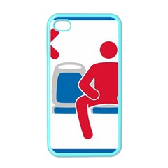 No Manspreading Sign Apple Iphone 4 Case (color)