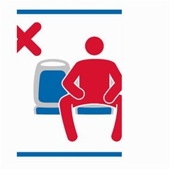No Manspreading Sign Large Garden Flag (two Sides)
