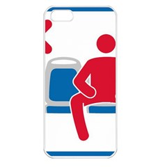 No Manspreading Sign Apple Iphone 5 Seamless Case (white)