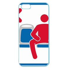 No Manspreading Sign Apple Seamless Iphone 5 Case (color)