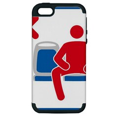 No Manspreading Sign Apple Iphone 5 Hardshell Case (pc+silicone)